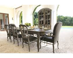 9 Pc Dining Room Set by Bernhardt Belgian Oak 9pc Rectangular Extendable Dining Room Set
