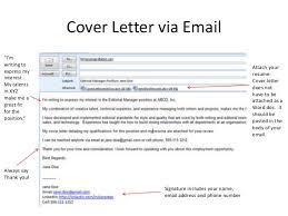 Sample Letter Of Sending Resume by Short Email Cover Letter A Great Cover Letter For Job Application