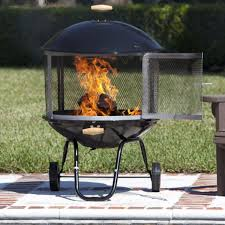Wood Firepit Portable Pit Outdoor Wheeled Firepit Wood Fireplace Heater