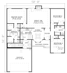 split bedroom house plans split bedroom house plan 59402nd architectural designs house