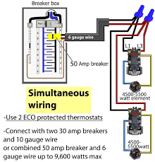 how to wire water heater thermostat within 7 wire thermostat