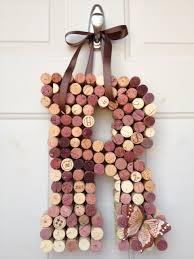 monogram letters home decor whimsical wine cork monogram custom letter home decor 37 00 via