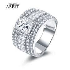 aliexpress buy 2ct brilliant simulate diamond men 4 1ct cut 925 sterling silver cubic zirconia bridge accent
