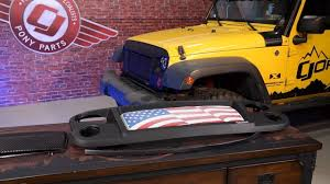 jeep wrangler jk rugged ridge grille spartan with flag insert 2007