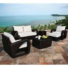 Sunbrella Outdoor Patio Furniture Broyerk 7 Beige Outdoor Rattan Patio Furniture Set Free