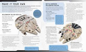 shades or orange incredibuilds star wars millennium falcon deluxe book and model