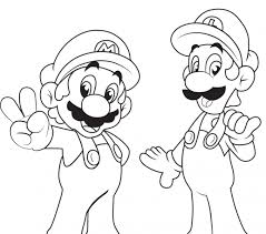 mario luigi colouring pages kids coloring europe travel
