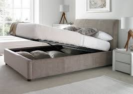 Ottoman Storage Beds Upholstered Ottoman Storage Bed Mink Peaceful Upholstered