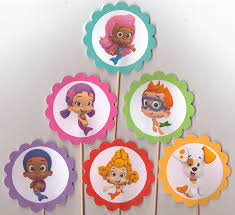 guppie cake toppers guppies set of 12 cupcake toppers birthday party food picks