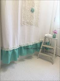 Teal Ruffle Shower Curtain by Bathroom Amazing Wide Shower Curtain Long Curtains Gingham