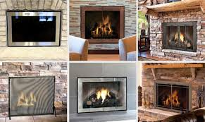 modern glass fireplace doors wonderful contemporary glass door for prefabricated fireplace