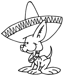 Dog Coloring Page Chihuahua Wearing Sombrero Dog Coloring Pages Dogs Color Pages
