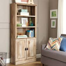 bookcase oak finish bookcase with doors light oak finish