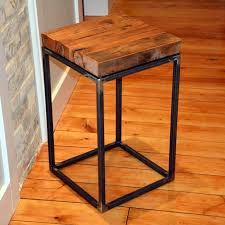 wood and wrought iron table the elegant wrought iron end tables regarding house designs
