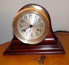 Amazon Mantle Clock Seth Thomas Ships Bell Strike Mantel Clock By Squarenutsshop On