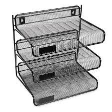 Office Desk Shelves Rolodex Mesh Collection 3 Tier Desk Shelf Letter