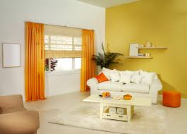 Beautiful Living Rooms Glorious Double Sheer Orange Curtains With Floating Shelf Over