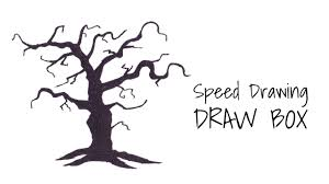 creepy black tree for timelapse drawing