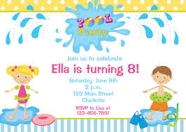 Sample Of 7th Birthday Invitation Card 12 Exclusive Pool Birthday Party Invitation Theruntime Com