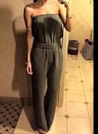 roy jumpsuit roy army strapless jumpsuit