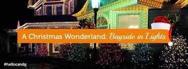 christmas wonderlands bayside in lights elwood real estate