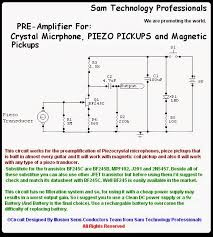 sam technology professionals build a preamp for piezo pickup
