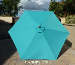 Sun Garden Easy Sun Parasol Replacement Canopy by Amazon Com 9ft Umbrella Replacement Canopy 6 Ribs In Turquoise