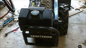 how to replace the fuel tank on a craftsman tiller with a 9 horse
