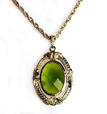 gold plated statement necklace images Jewelry company imitation emerald green statement necklace gold jpg