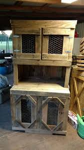 Rabbit Hutch From Pallets Recycled Wooden Pallet Projects To Do This Weekend Recycled Things