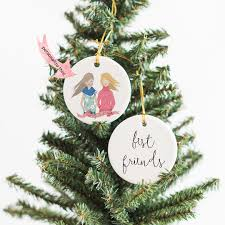 best friends portrait ornament freshly scented