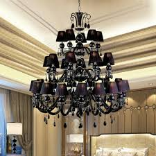 Black Chandelier Dining Room 30 Lights Large Black Chandelier L With Shades For Dining Room