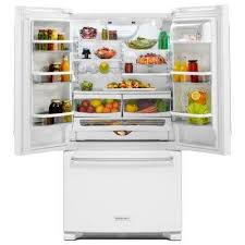 Kitchenaid Counter Depth French Door Refrigerator Stainless Steel - white french door refrigerators refrigerators the home depot