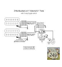 guitar wiring diagram 2 humbucker 1 volume wiring diagram and