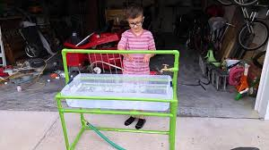 diy sand and water table pvc pvc water table youtube