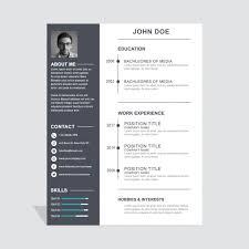 modelo de curriculum vitae corporativa simple resume layout cv