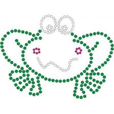 cute frog template rhinestone artwork