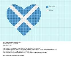 Blue And White Flag Cross Patriotic Hearts U2013 Scotland Kincavel Krosses