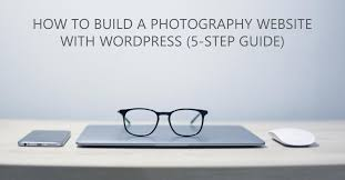 build a to build a photography website with 5 step guide