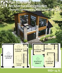 home plan design 600 sq ft plan 80878pm dramatic contemporary with second floor deck