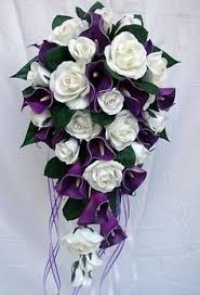 Purple Wedding Flowers Plum And Ivory Bridal Bouquet Wedding Bouquet In Shades Of Dusky
