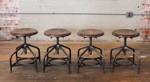 Steampunk Bar Stools Steampunk Vintage Industrial Adjustable Toledo Wood Metal Factory