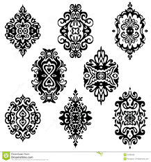 damask flower ornamental designs stock vector image 52066336