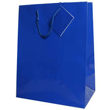 blue gift bags blue gift bags with handle jam paper