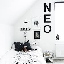 Deco Chambre Noir Blanc Chambre Enfant En Noir Et Blanc 25 Idées à Copier