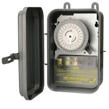 outdoor light timer instructions woods 24 hour outdoor mechanical light timer 3 conductor black