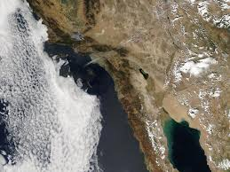 California Wildfire Satellite View by Day Fire In Southern California Natural Hazards