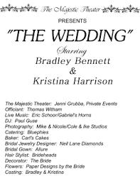 Playbill Wedding Programs Vavoom Pinups Creative Tracks