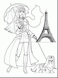 terrific fashionable girls coloring pages with printable
