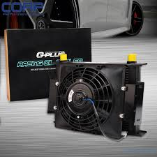 oil cooler fan kit 30 row 10an universal engine transmission oil cooler 7 fixed